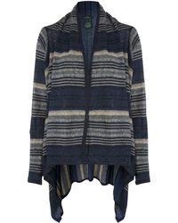 Lauren by Ralph Lauren - Striped Linen-cotton Poncho - Lyst