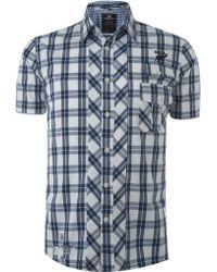 Nza | Grid Check Short Sleeve Shirt | Lyst