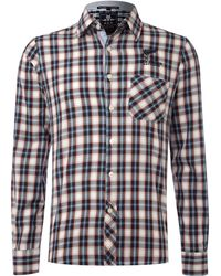 Nza - White Tartan Shirt - Lyst