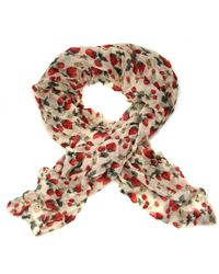 Ollie & Nic - Berry Strawberry Print Scarf Red - Lyst