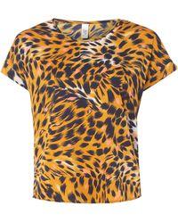 Vero Moda Very - Short Sleeve Leopard Print Top - Lyst