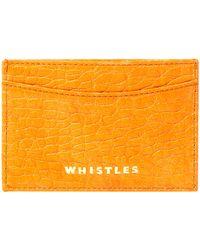 Whistles Credit Card Holder - Orange