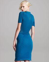 Alexander Wang Tech-knit Polo Dress - Lyst