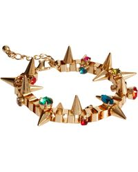 Asos Asos Jewelled Spike Bracelet - Lyst