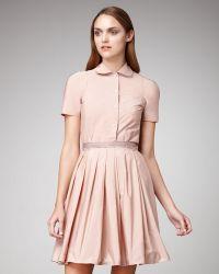 Jil Sander Navy - Grosgrain Ribbon Pleated Skirt - Lyst