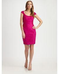 Theia Silk Dress - Lyst