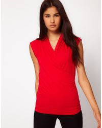 ASOS Collection Asos Sleeveless Top with Wrap Detail - Lyst