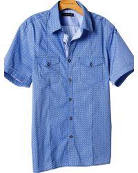 Banana Republic Shortsleeve Patterned Utility Shirt - Lyst