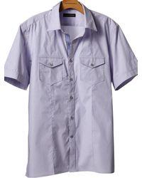 Banana Republic Shortsleeve Solid Utility Shirt - Lyst