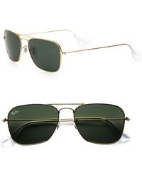 Ray-Ban Caravan Rectangular Sunglasses - Lyst