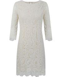 Alexon - Alexon Crochet Tunic Dress Ivory - Lyst