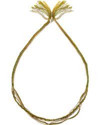 Alyssa Norton - 14 Karat Gold-plated and Braided Silk Necklace - Lyst