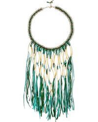 Antik Batik - Elias Tasseled Suede Necklace - Lyst