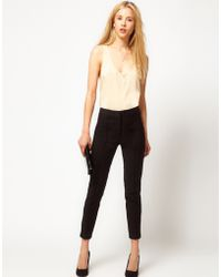 ASOS Collection  Super Skinny Pintuck Trouser - Lyst