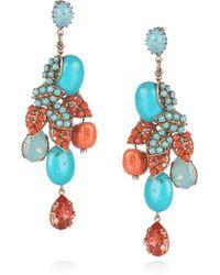 Bijoux Heart - 24karat Goldplated Swarovski Crystal Earrings - Lyst