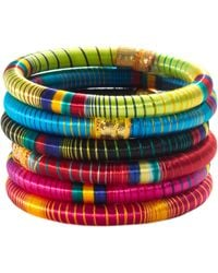 Cara -  Striped Bangle - Lyst