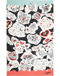 Diane von Furstenberg Valencia Printed Silkcrepe Scarf - Lyst