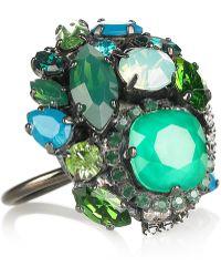 Erickson Beamon - Bossa Nova Silverplated Swarovski Crystal Ring - Lyst