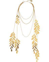 Herve Van Der Straeten - 24karat Goldplated Leaf Necklace - Lyst