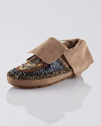 House of Harlow 1960 - Beaded Suede Moccasin - Lyst