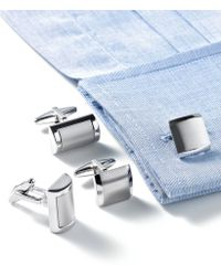 Kenneth Cole Reaction Brushed Cufflinks - Lyst