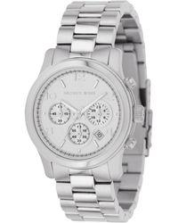 Michael Kors Women'S Chronograph Runway Stainless Steel Bracelet Watch 38Mm Mk5076 - Lyst