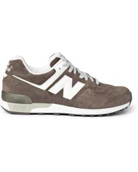 New Balance 576 Suede and Leather Sneakers - Lyst