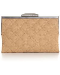 Rachel Roy Quilted Frame Clutch - Natural