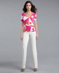 St. John Yellow Label Marie Pants Palomino white - Lyst