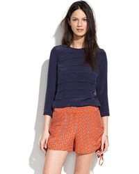 Sunner - Sunner Lincolnprint Sidecinch Shorts - Lyst