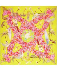 Swash London - Canary Honolulu Printed Silkchiffon Scarf - Lyst
