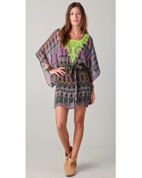 Twelfth Street Cynthia Vincent Embroidered Caftan Dress - Multicolor