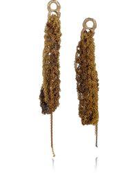Arielle De Pinto - 14karat Goldvermeil Woven Chain Earrings - Lyst