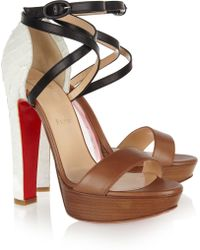 Christian Louboutin Summerissima 140 Python and Leather Sandals - Lyst