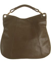 Barneys New York Brown Structured Hobo - Lyst