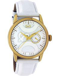 Dolce & Gabbana - Womens White Leather Strap - Lyst