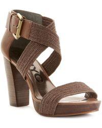 DKNY Leslie High Heel Sandals - Lyst