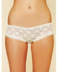 Free People Womens Lacey Basic Undie - Lyst