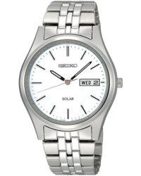 Seiko Men'S Solar Stainless Steel Bracelet 37Mm Sne031 - Lyst
