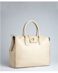 Saint Laurent  Leather Muse Two Cabas Tote beige - Lyst