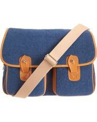 Barneys New York Blue Hunting Bag - Lyst