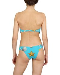 Magda Gomes Beachwear - Cut Out Jewelled Shell Bathing Suit - Lyst