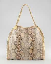 Stella McCartney Snakeprint Falabella Tote Small - Lyst