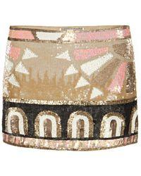AllSaints Embellished Pipali Skirt black - Lyst
