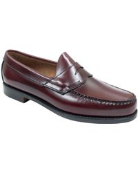 G.H. Bass & Co. Logan Weejuns Flat Strap Penny Loafers - Lyst