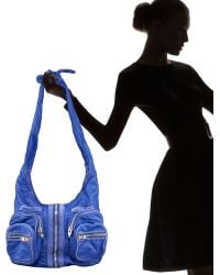 Alexander Wang Donna Washed Leather Hobo, Azure - Lyst