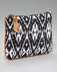 Cynthia Vincent - Printed Canvas Pouch Black - Lyst