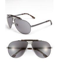 Diesel Top Bar Aviator Sunglasses - Lyst