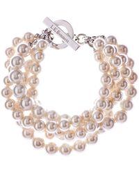 L.K.Bennett - Twisted Pearl Bracelet - Lyst