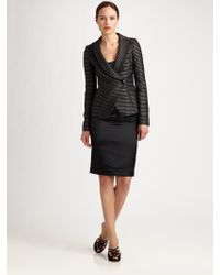 Armani Stripe Shawl Collar Jacket - Lyst